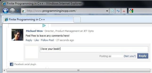 Facebook Comment Plugin Light Theme Screenshot