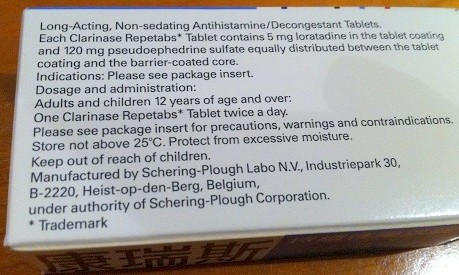 Clarinase Repetabs Tablets Description