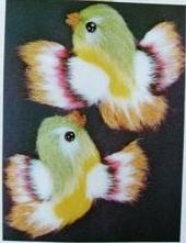 Japanese Embroidery Fluffy Bird