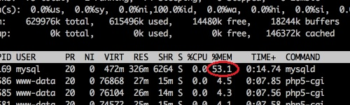 MySQL Daemon Consuming Lots Of Memory On Unix Machine