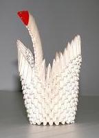 White Origami Swan