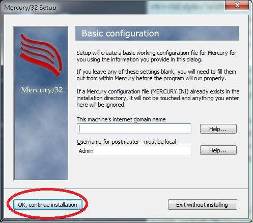 Mercury 32 Mail Transport System Setup Basic Configuration
