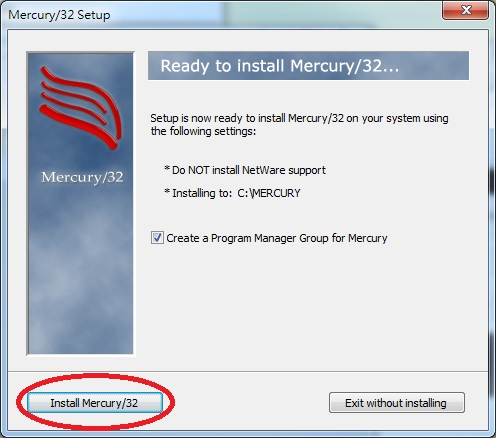 Mercury 32 Mail Transport System Setup Ready To Install