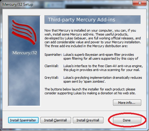 Mercury 32 Mail Transport System Setup Third Party Mercury Add-Ins