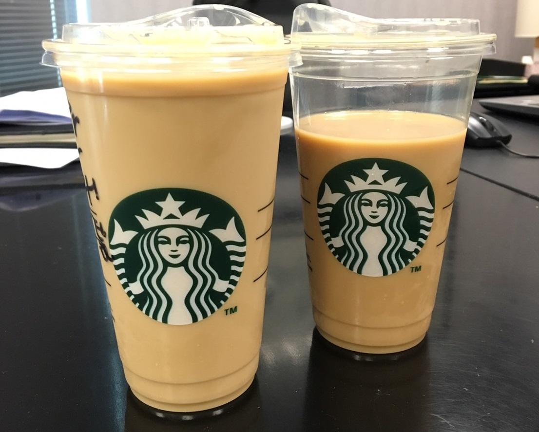 星巴克冰咖啡密斯朵特大杯兩杯